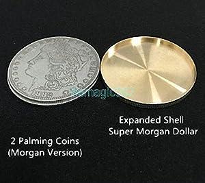 2 pcs Expanded Shell For Morgan Dollar - Coin&Money Magic