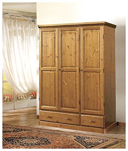 Arredamenti Rustici Armadio in legno di pino-Grezzo (Non verniciato ...