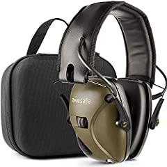 Electronic Shooting Earmuff:Awesfae Electronic Earmuff offers the ultimate in safety and ear protection. The safety is delivered through distortion-free amplification (up to a safe 82 dB) of important low level sounds like range commands and ...