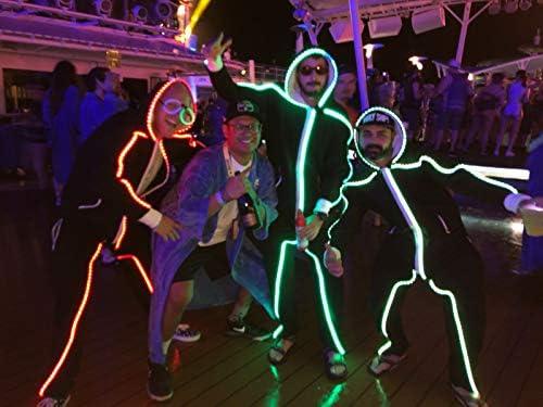 LED Stickman Traje - Traje grande: Amazon.es: Iluminación