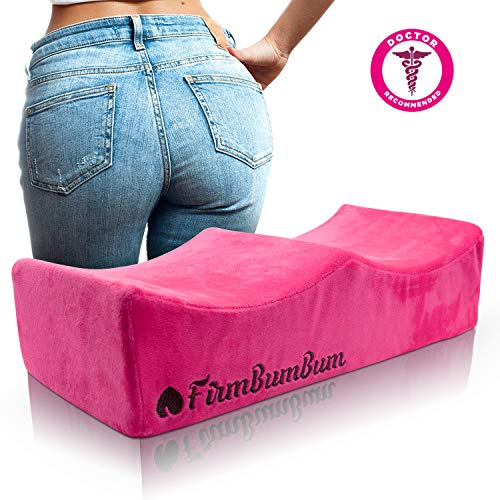 Brazilian Butt Lift Pillow - Post Surgery Recovery Seat - BBL Booty Foam Lift and Carry Bag - Firm Support Cushion - Fits in Car Seat and Office Chair - FirmBumBum