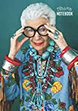 Notebook: Iris Apfel Medium College Ruled Notebook 129 pages Lined 7 x 10 in (17.78 x 25.4 cm)
