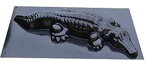 Betonex Mold Casting Crocodile DECORATIV Concrete Gator Garden Mold Alligator (#A07)