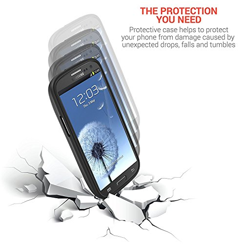 PowerBear Samsung Galaxy S3 Extended Battery 4500mAh Back Cover Protective claim Up to 22X Extra Battery potential Black 24 Month extended warranty monitor Protector involved Cases