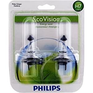 Philips H7 EcoVision Replacement Bulb, (Pack of 2)