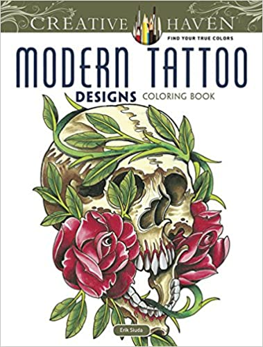 Creative Haven Modern Tattoo Designs Coloring Book (Creative Haven ...