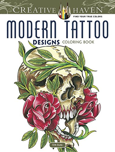 Creative Haven Modern Tattoo Designs Coloring Book (Creative Haven Coloring Books) from Dover