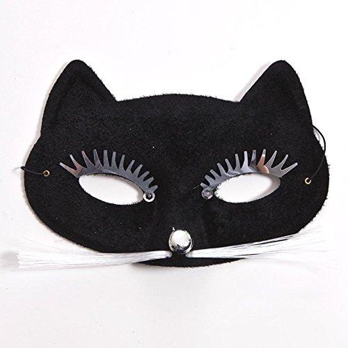 [Black Cat Half Mask] (Cat Masks For Kids)