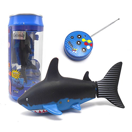 Remote Control Fish (Escomdp Cute RC Fish Shark Remote Control Boat Ship Submarines Lively Swim in Pool Kids Electric)
