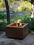 "30"" Square Cor-Ten Steel Wood Burning Fire Pit"