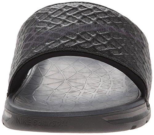Nike Benassi Solarsoft - Chanclas Hombre Negro (Black / Anthracite 091)