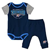 Outerstuff NBA Newborn & Infant Point Guard Onesie and Pant Set Oklahoma City Thunder-Dark Navy-18 Months
