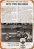 2 Pcs 9 x 12 Metal Sign - 1962 Connie Kalitta for