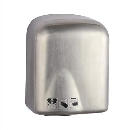 GCHOME Secadores de Mano Secador de Manos, baño del Hotel Inodoro de Acero Inoxidable Secador