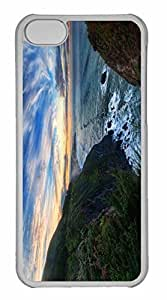 iPhone 5C Case, Personalized Custom Spectacular Ocean View for iPhone 5C PC Clear Case