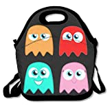 Funny Classic Game Pac Man Lunch Box Bag For Kids And Adult,lunch Tote Lunch Holder With Adjustable Strap For Men Women Boys Girls,This Design For Portable, Oblique Cross,double Shoulder