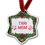 Christmas Ornament Dog & Cat Mom Thai - Neonblond