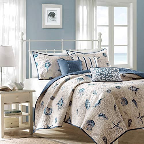 Madison Park Bayside Coverlet&Bedspread, Full/Queen, Blue