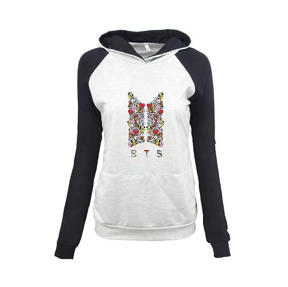 design intemporel 616a1 2cea6 BTS Garçon Femme Sweat-Shirts Pull à Capuche à la Mode à ...