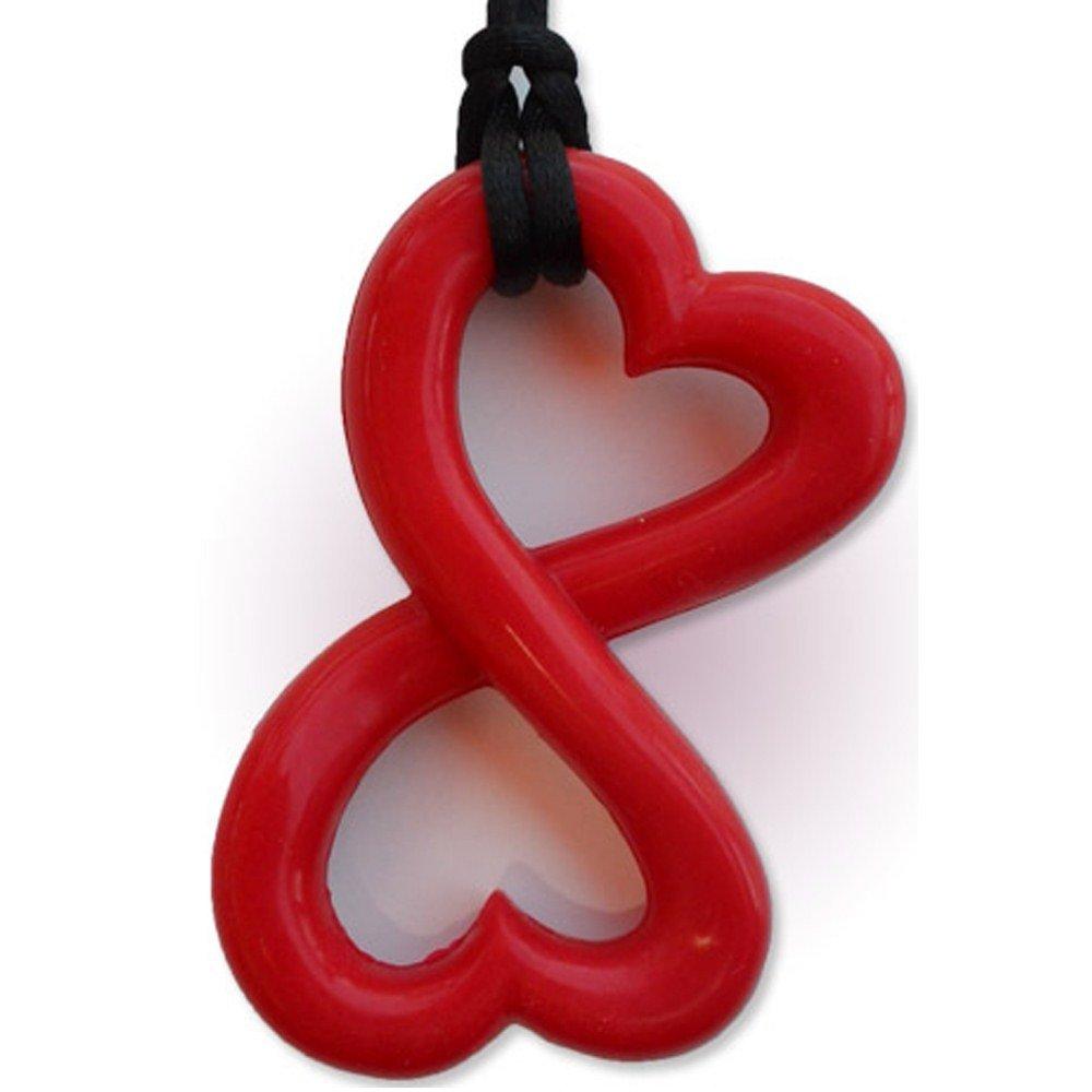 Infinity Heart Teething Necklace by Zen Rocks - a Stylish New Twist to Teething - Ruby by Zen Rocks   B00KZ1GK7Q