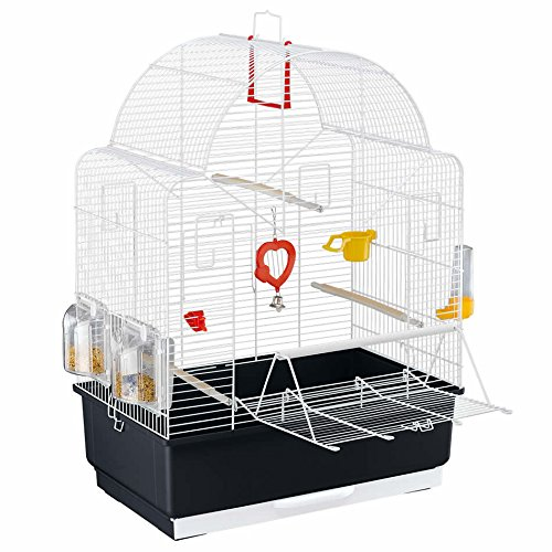 Ferplast Ibiza Open Bird Cage With Pearly White Bars With Accessories Medium