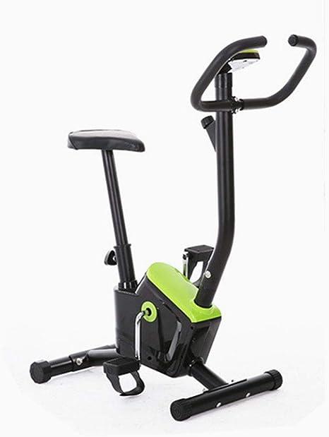 Strele Bicicleta estática Correas Ejercicio, Resistencia Ajustable de Placa de Hierro galvanizado, Pantalla LCD, Antideslizante del Pedal Amortiguador Engrosada, Bicicleta de Gimnasio para Adelgazar: Amazon.es: Deportes y aire libre