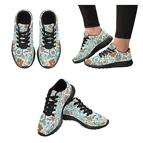 InterestPrint Womens Road Running Shoes Jogging Lightweight Sports Walking Athletic Sneakers k0uvhb