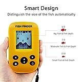 Gobing Wireless Sonar Sensor fish finders for boats humminbird Transducer , LCD Display ,Water Depth , Temperature Fishfinder