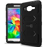 Galaxy Grand Prime Case, CoverON® [Tank Series] Hybrid Hard Armor Protective Phone Case For Samsung Galaxy Grand Prime - Black