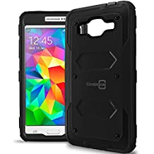Galaxy Grand Prime Case, CoverON® [Tank Series] Hybrid Hard Armor Protective Phone Case For Samsung Galaxy Grand Prime - Black