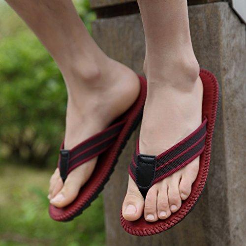 Sommer Geschlecht Hausschuhe, Paar Flip-Flops Männer Strand Herren Hausschuhe Cool Slippers Studenten Anti-Rutsch-Clip Hausschuhe ( Farbe : G , größe : 26.5cm )