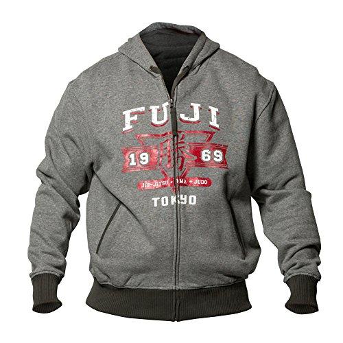 Fuji Sports Tokyo 1969 Full Zip Hoodie, Grey, X-Small by Fuji