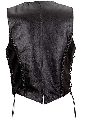 costura Black Classyak fashion Cow Chaleco especial piel de Calidad Top de qw7ZAw