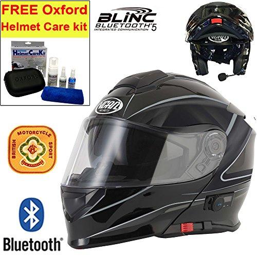 V-CAN Vcan V271 Blinc Motorcycle Motorbike Bluetooth Flip UP Helmet...