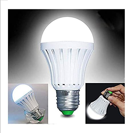 Batería de Emergencia Bombilla LED, amzstar E27 7 W blanco ahorro de energía LED Bombilla