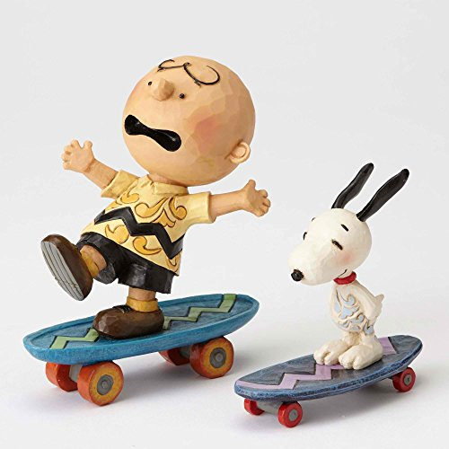 """Character Figurine (Peanuts by Jim Shore Charlie Brown and Snoopy Stone Resin Figurine, 4.125"""")"""