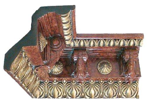 Art Frame Direct AMZ-MLDCI-1012-BM&G Wellington Interior Corner Moulding, Burl Marble and Gold Burl Moulding