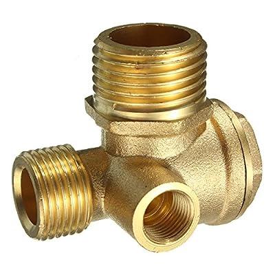 Brass 3 Port Central Pneumatic Air Compressor Check Valve 444430mm
