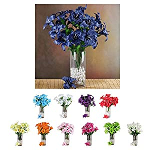 Efavormart 54 Extra Large Lilies Artificial Lily Flowers for Wedding Bouquets- 6 Bushes 37