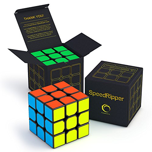 SpeedRipper Cube: Perfect for International Speed Cube Competitions - Buttery Smooth Turning - Solid & Durable, Best 3x3 Puzzle Magic Toy - Turns Quicker Than (Idee Originali X Halloween)