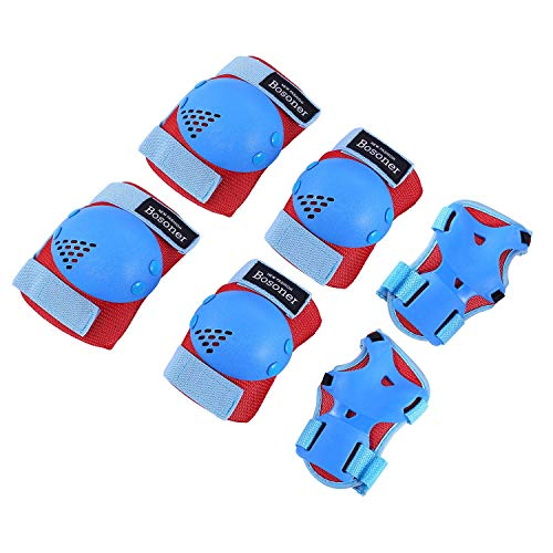 nee Pad Elbow Pads for Rollerblade Roller Skates Cycling BMX Bike Skateboard Inline Rollerblading, Skating Skatings Scooter Riding Sports (Red/Blue, Small (3-7 Years)) ()