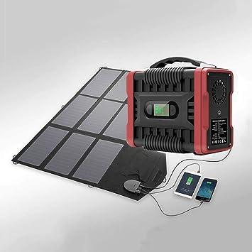 60W Paneles Solares + 222WH Generador Solar Portátil Fuente ...