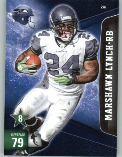 2011 Panini Adrenalyn XL Football Card #276 Marshawn Lynch - Seattle Seahawks - NFL Trading Card by Panini