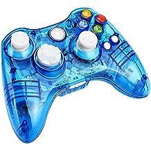 [Patrocinado] kycola Xbox 360Controller GC21, Wireless PC GamePad driver LED transparente Joystick para Xbox 360/PC
