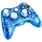 xbox 360 led controller - Kycola Xbox 360 Controller GC21 Wireless PC Gamepad LED Controller Transparent Joystick For Xbox 360/PC(Blue)