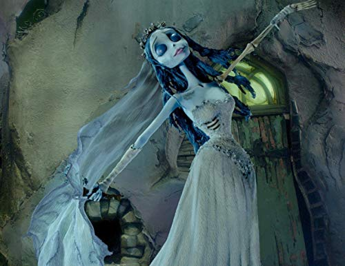 Corpse Bride Emily Crown Wedding Gown Edible Cake Topper Image ABPID06411 - 1/4 sheet]()