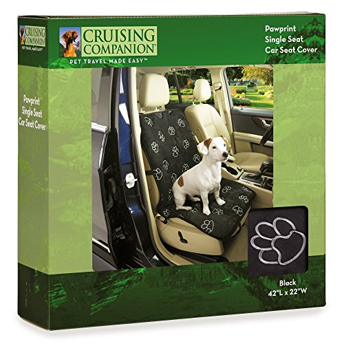 Cruising Companion Dog Seat Cover, Single Cushioned Car Seat Cover for Dogs