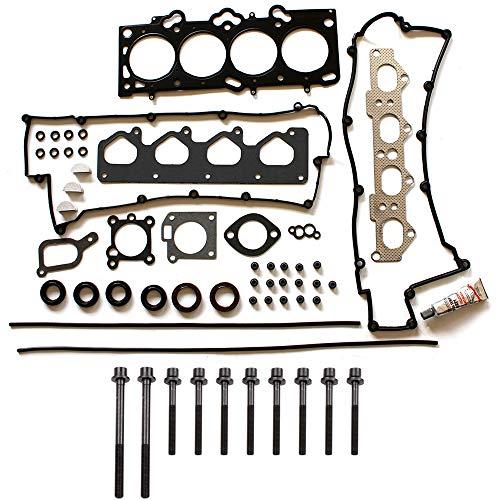 (ECCPP Engine Head Gasket Set w/Bolts fit 01-12 Hyundai Elantra DOHC Hyundai Tiburon DOHC Kia Soul DOHC Kia Spectra DOHC Compatible fit for Gaskets)
