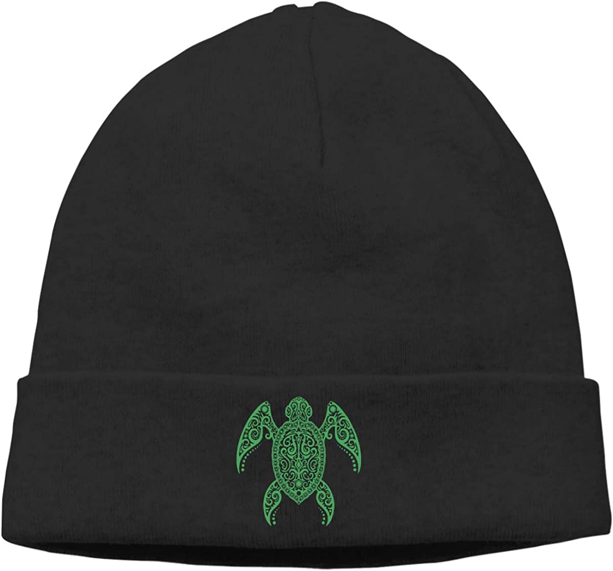 Mens/&Womens Intricate Green Sea Turtle Soft Beanie Hat