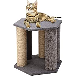 QAQA 18' Multiple Cat Scratching Posts,Cat Scratcher Pole Natural Sisal,Cat Furniture Interactive Toys Pet Toy Ball Kitty Small Large Cats